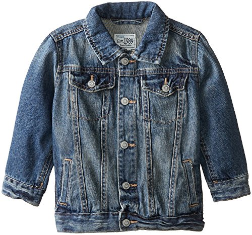 The Children's Place Little Boys and Toddler Denim Jacket, Stream, 5T