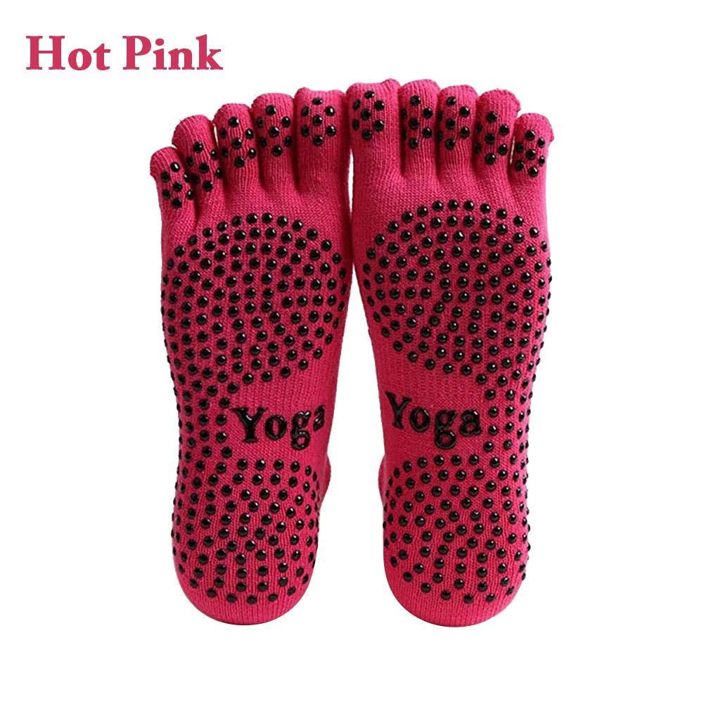 AIflyMi Chaussettes de Yoga Femme, Chaussettes antiderapantes - Slip Warm Cotton Yoga Chaussettes de Massage en Caoutchouc imprimé Chaussettes de Massage Pilates