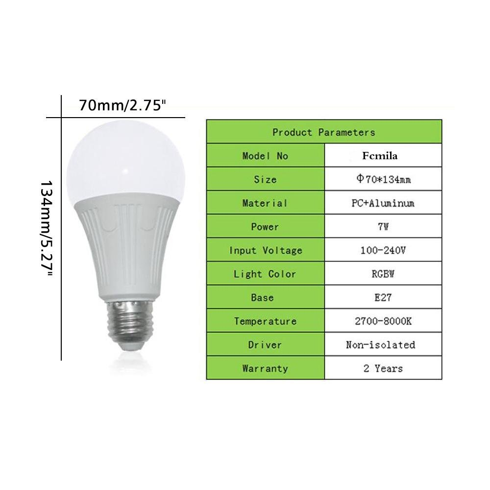 Teepao Wifi Bulb Dimmable, Multicolor Voice Controlled Light Smart Led Bulb Including 16 Million Color Light Work with Amazon Echoã€Echo Dotã€Amazon Tap(50w Equivalent,18 Led Light Beads) by Teepao (Image #2)