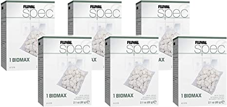 Amazon Com Fluval Spec 6 Pack Of Biomax Aquarium Filter Media Pet Supplies