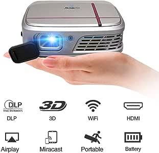 Mini proyector inalámbrico 3D DLP, proyector portátil de Cine en ...