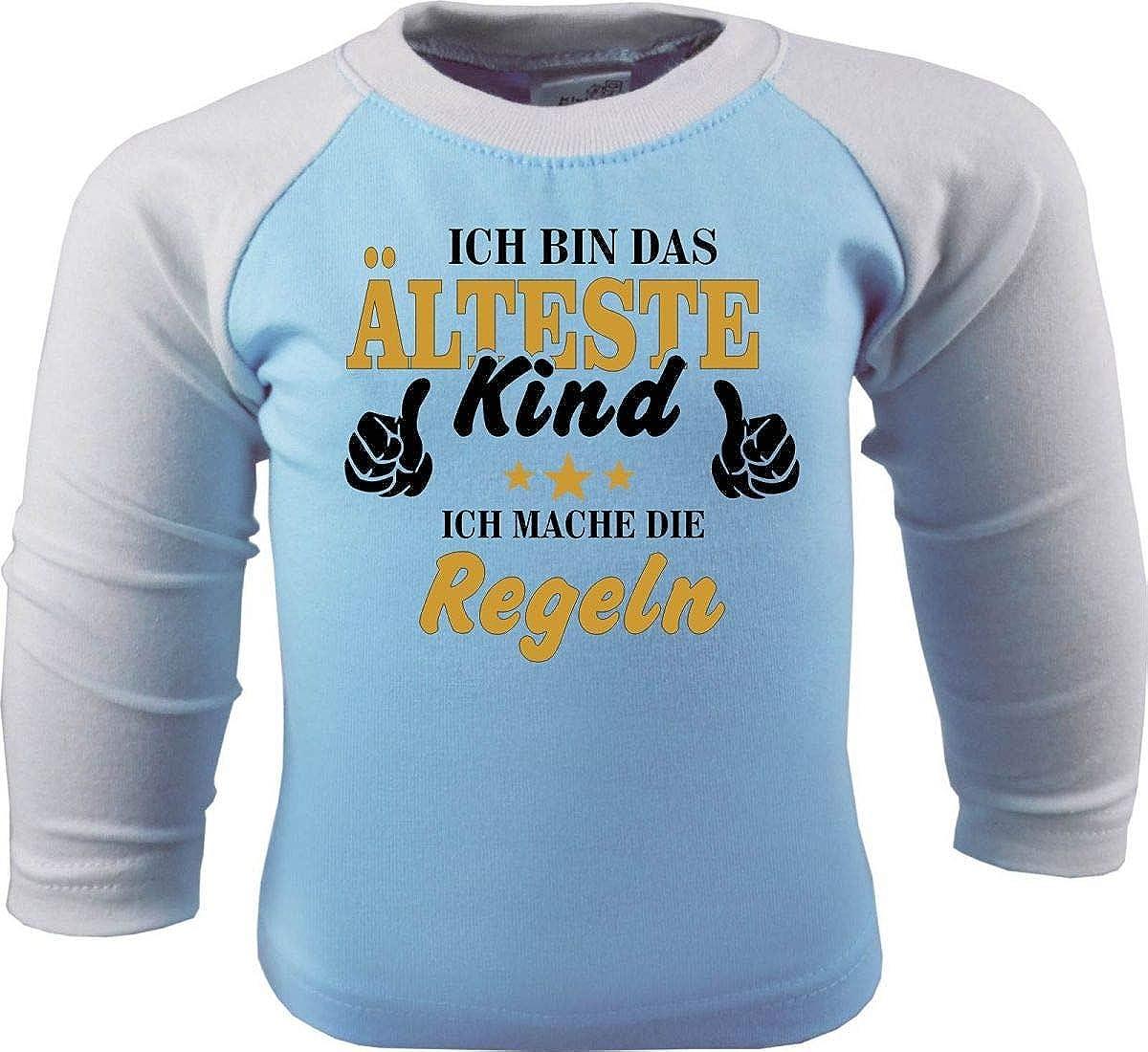 KLEINER FRATZ Baby//Kinder Baseball Langarm T-Shirt Ich Bin Das /älteste Kind