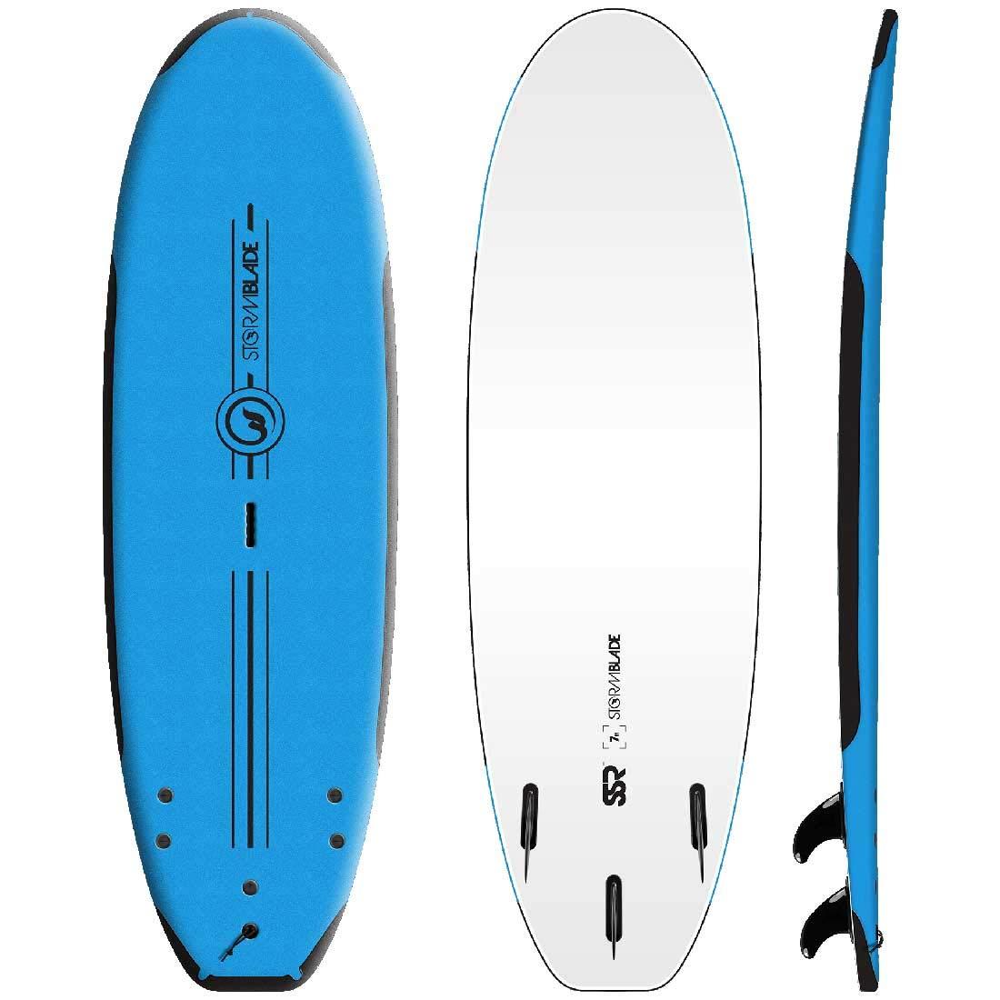 サーフボード ソフトボード STORM BLADE 7ft SSR SURFBOARDS AZ 青