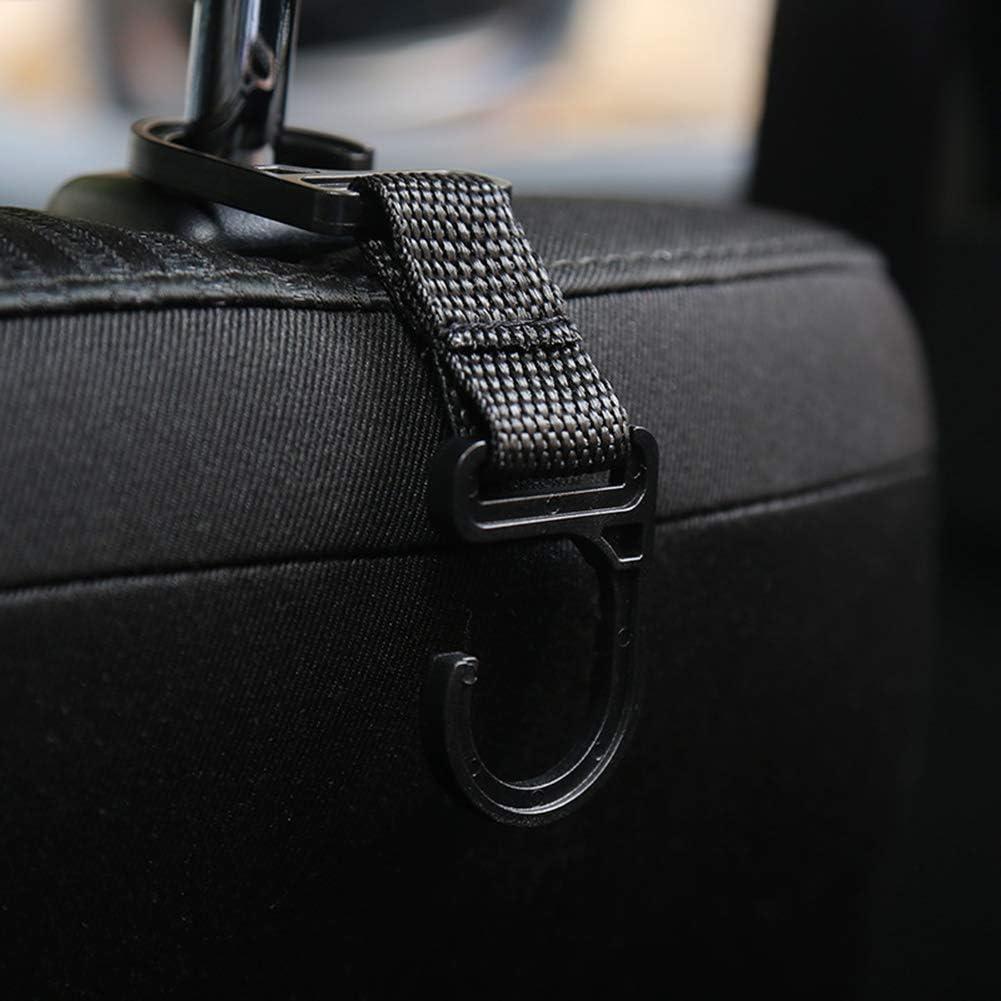 4pcs Auto Lagerung Haken Morechioce Multifunktions Kunststoff Kfz Rücksitzkopfstütze Aufbewahrungshalter Rücksitz Kopfstütze Haken Für Einkaufstüte Tasche Kleidung Handtasche Schwarz Auto