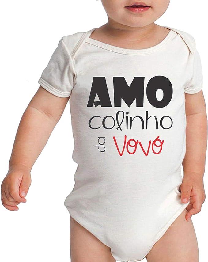 Body Criativa Urbana Bebê Frases Fofas De Vovó Amo Colinho