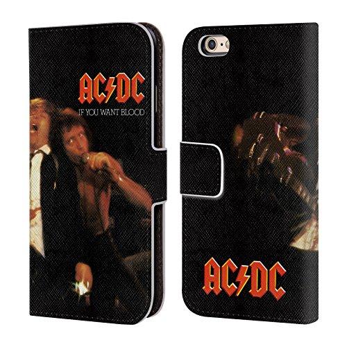 Officiel AC/DC ACDC Si Vous Voulez Sang Couverture D'album Étui Coque De Livre En Cuir Pour Apple iPhone 6 / 6s