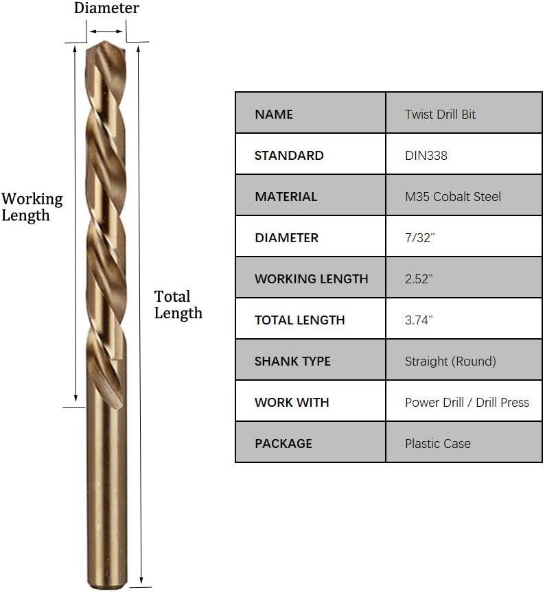 """.5000/"""" 1//2/"""" HIGH SPEED STEEL JOBBER LENGTH DRILL 118 DEGREE POINT"""
