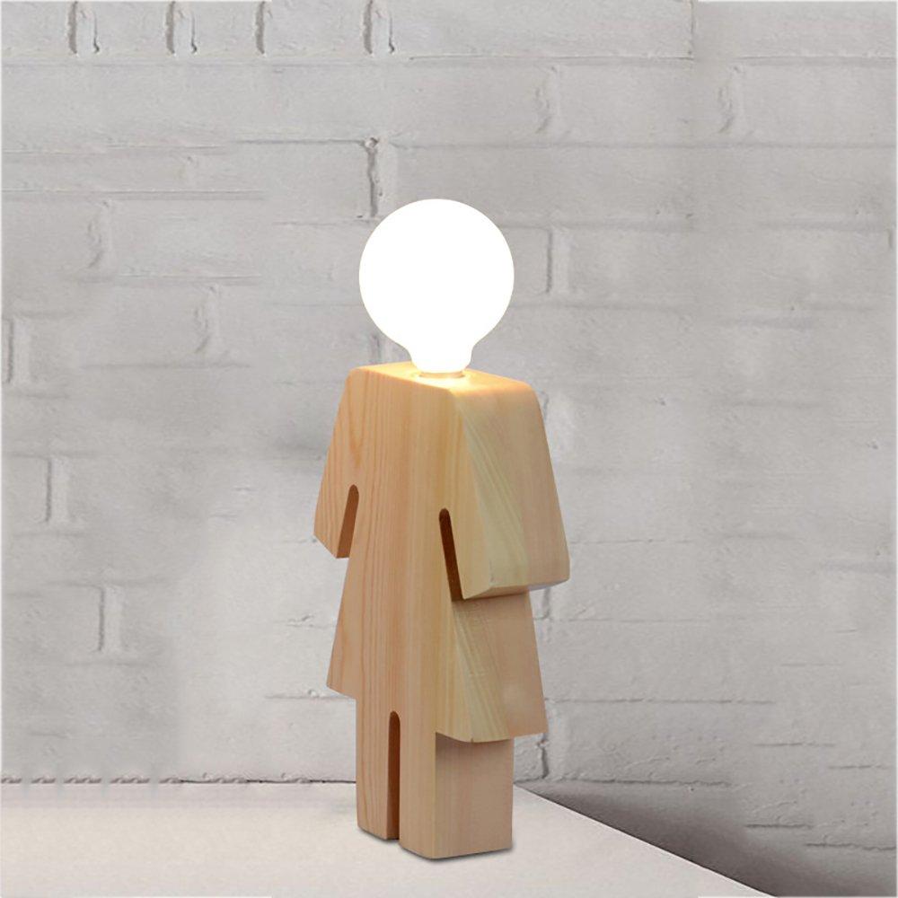 Ai Table Lamp Wood The Man Woman Modeling Table Lamp LED 10W 220V E27