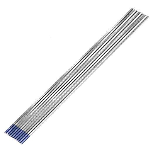 Elettrodi di tungsteno TIG 10Pcs WY20 Elettrodo di tungsteno 2.0/% di ittrio a punta blu per saldatura TIG 1.6mm /× 150mm
