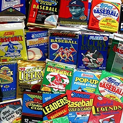 300 Unopened Baseball Cards Collection In Factory Sealed Packs Of Vintage Mlb Baseball Cards From The Late 80s And Early 90s Look For