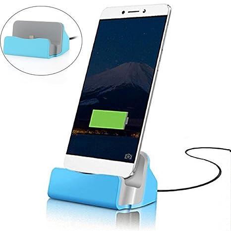 Tecbeau USB Tipo C estación de Carga Cargador (Incluye 1 m ...