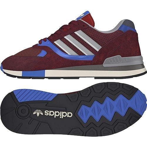 Adidas Quesence, Zapatillas de Deporte para Hombre, Rojo (Granat/Azutra / Negbás 000), 44 2/3 EU: Amazon.es: Zapatos y complementos