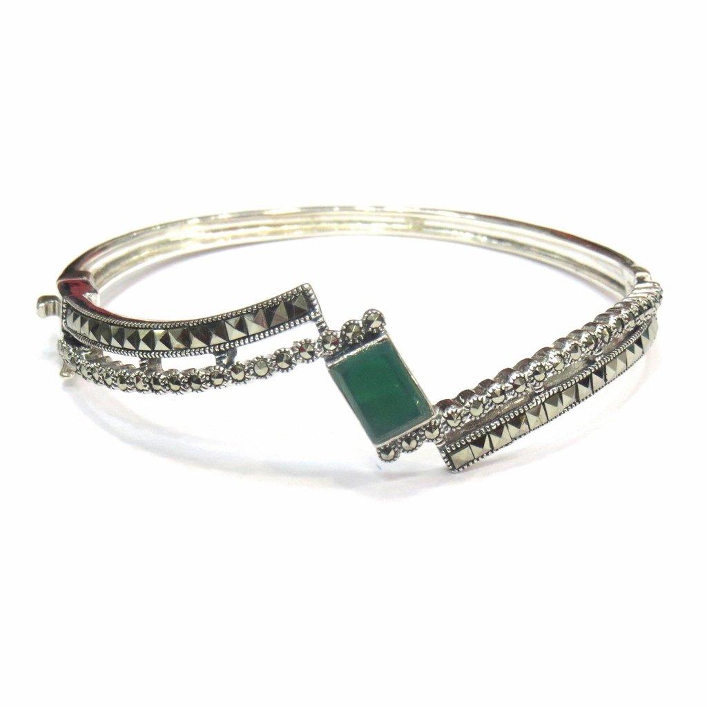 Jewelshingar Jewellery Free Size Bracelet For Girls ( 15288-ssbl-green )
