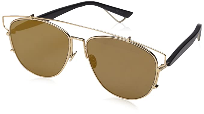 Christian Dior Technologic Sunglasses Gold Aviator