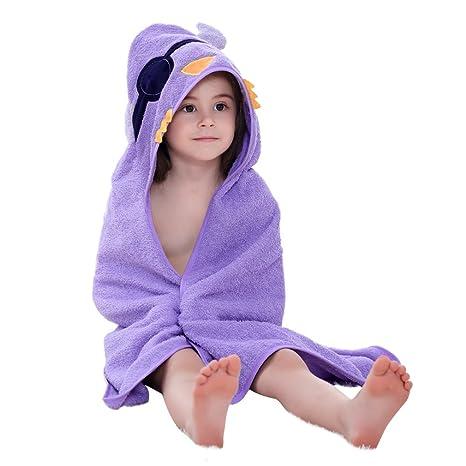 MICHLEY Bebé Ropa Niños Niñas Capucha Toallas de baño 90x90cm Niño Animal Albornoz Algodón Manta Regalos