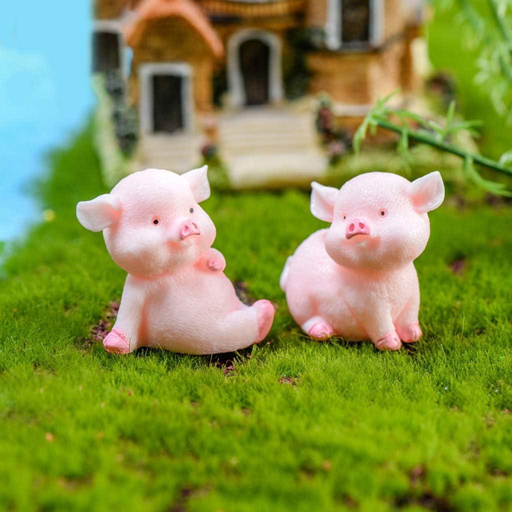 only y 8pcs//Set Mini Animaux Decoration de Maison Cochon Rose Micro Paysagement Bonsa d/écor Figurines Jardin Fleur Paysage Ornements