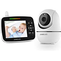 """Baby Monitor with Remote Pan-Tilt-Zoom Camera, 3.5"""" Large Display Video Baby Monitor with Camera and Audio 