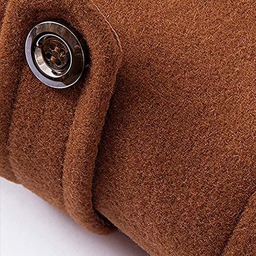 Coat Chaud Veste Couleur vent Décontractée Outwear Laine Affaires Hiver Mode Pure Coupe Hommes Adeshop Vêtements Manteaux Café Blousons Slim Manteau Gentilhomme UWn8qf1a