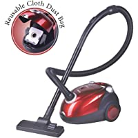 Inalsa Spruce-1200W Vacuum Cleaner for Home with Blower Function and Reusable dust Bag (Red/Black)