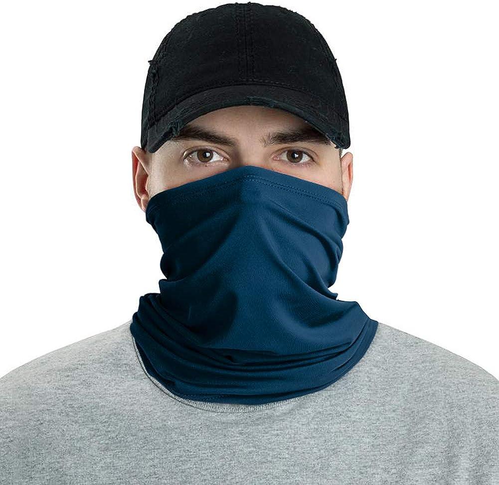LUNGEAR Bandanas Cooling Neck Gaiter Headbands Headwear Balaclava Seamless Elastic Tube Face Scarf Outdoors for Men and Women