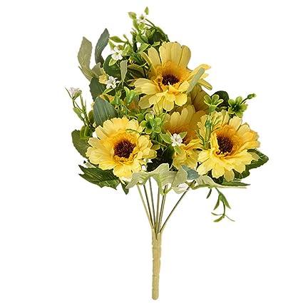 Amazon Foonee Artificial Daisy Bouquet Fake Silk Flowers