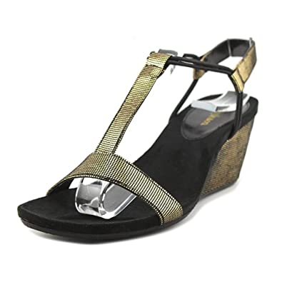 41dc07646ec95 Style   Co. Mulan Wedge Sandals Black   Gold ...