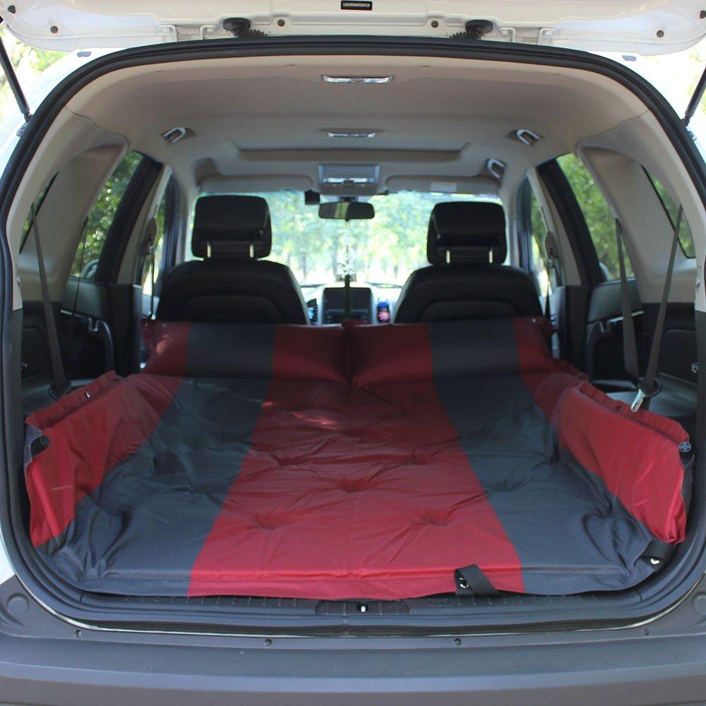 YJH+ Im Freien Einzelnes Doppeltes SUV Automatisches aufblasbares Matratze-Auto-Bett-aufblasbares Bett-Auto-Bett-Auto-Schlag-aufblasbares Kissen Schön und großzügig ( Farbe : Rot , größe : B )