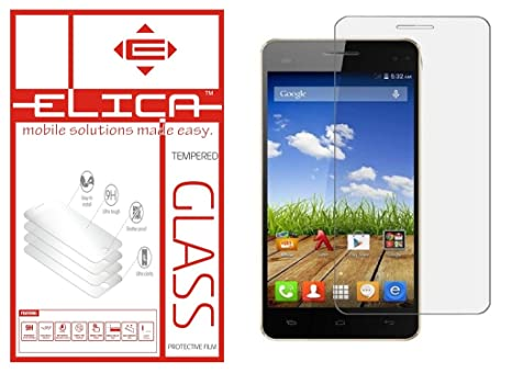 ELICA Tempered Glass for Micromax Canvas Juice A77 Mobile Accessories