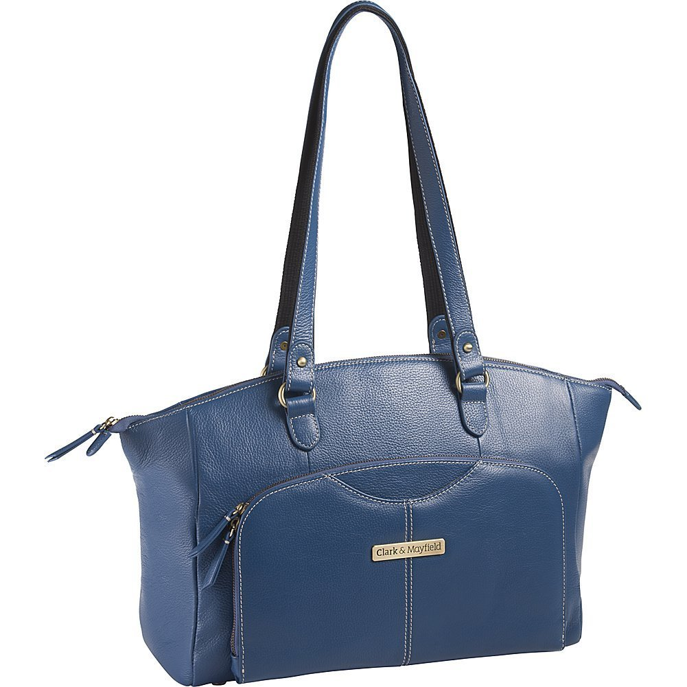 Clark & Mayfield Alder Leather 15.6 '' Laptop Handbag (Blue) by Clark & Mayfield