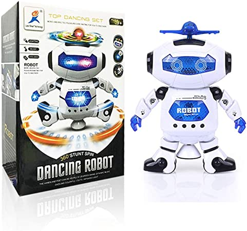 Lin XH Robot inteligente juguetes para niños – 360 Light-Up música ...