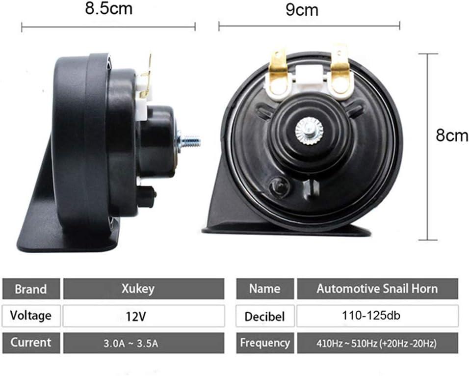 AUTOXBERT 12V 110-125db Loud Waterproof Snail Horn for Honda HR-V MK2 2015 2016 2017 2018 2019 2020 410//510Hz High Low Pitch Car Horns