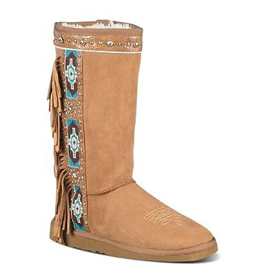Calimesa Fringed Fleece Boots