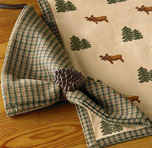 (tkdancingbearsgiftsco Northern Exposure Plaid Cotton Napkins Set Set/4)
