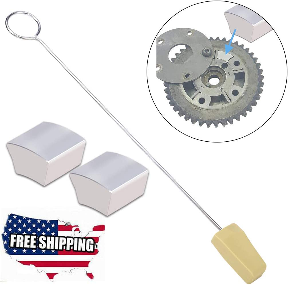 Wotryit Timing Chain Locking Wedge Tool Engine Valve Train Tools Cam Phaser Lock Out Kit Noise Repair Tool for Ford 4.6L 5.4L