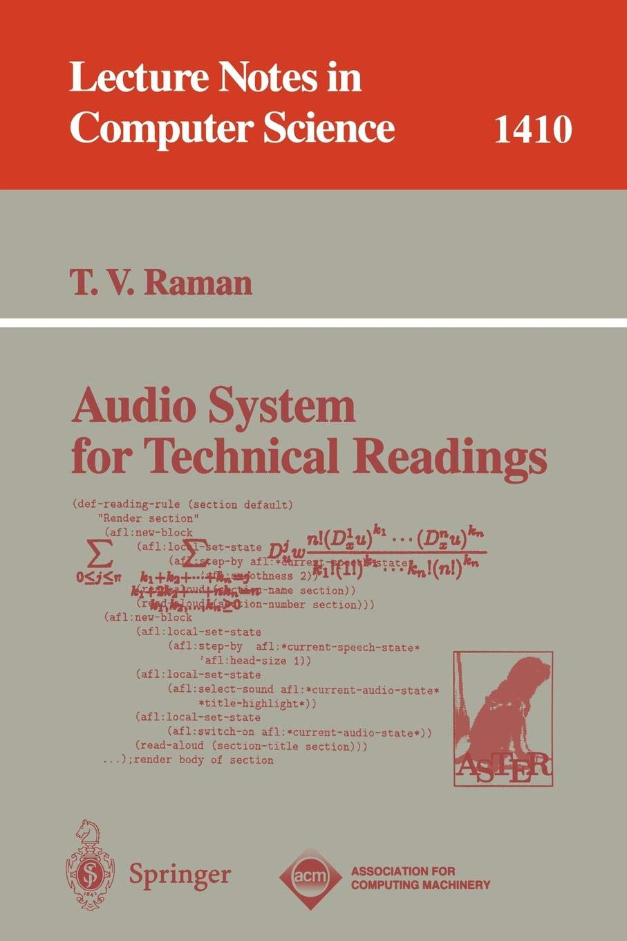 Audio System for Technical Readings (Lecture Notes in Computer Science)
