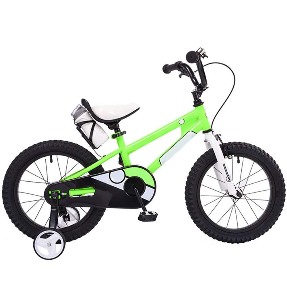 正規品 Axdwfd 子ども用自転車 キッズバイクキッズバイク12/16インチ男の子と女の子のサイクリング 16in、子供に適している28歳oldBlueグリーンレッドイエロー 16in Axdwfd Green Green B07PHTFQ1T, インターネット介護用品店:5c44d43a --- ciadaterra.com