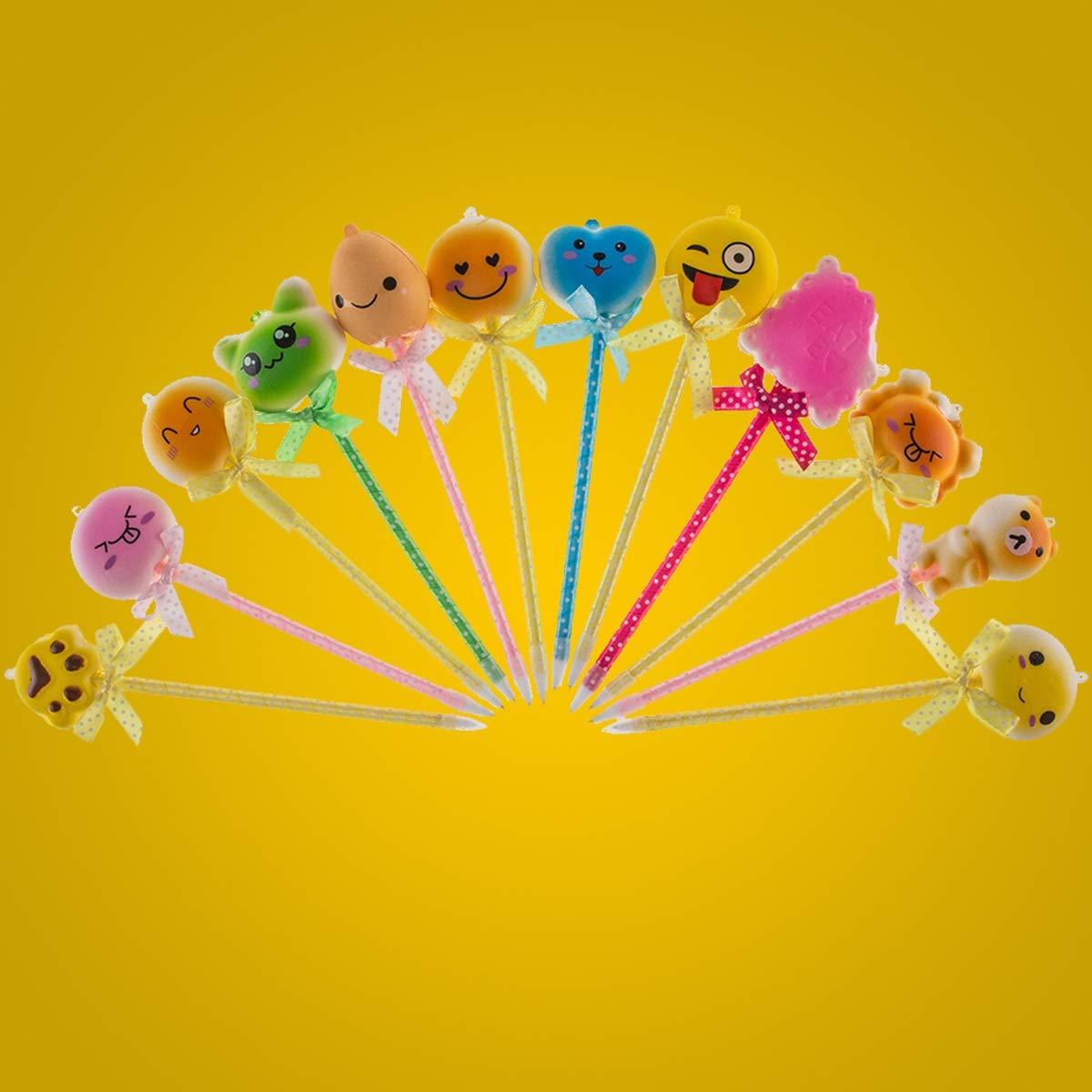 Penna a Sfera Squishy Matita a Crescita lenta Topper Ansia Sollievo dallo Stress Bambini Favori di Partito//Premi in Classe Color : 12pcs