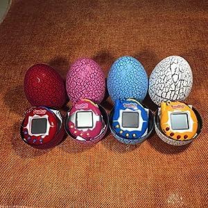Cavis Electronic Pets Toy Key Digital Pets Tumbler Dinosaur Egg Virtual Pets blue
