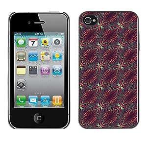 ZECASE Funda Carcasa Tapa Case Cover Para Apple iPhone 4 / 4S No.0003953