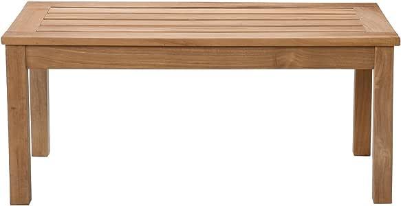 Amazon.com : SEI Teak Wood Coffee Table : Patio Coffee ...