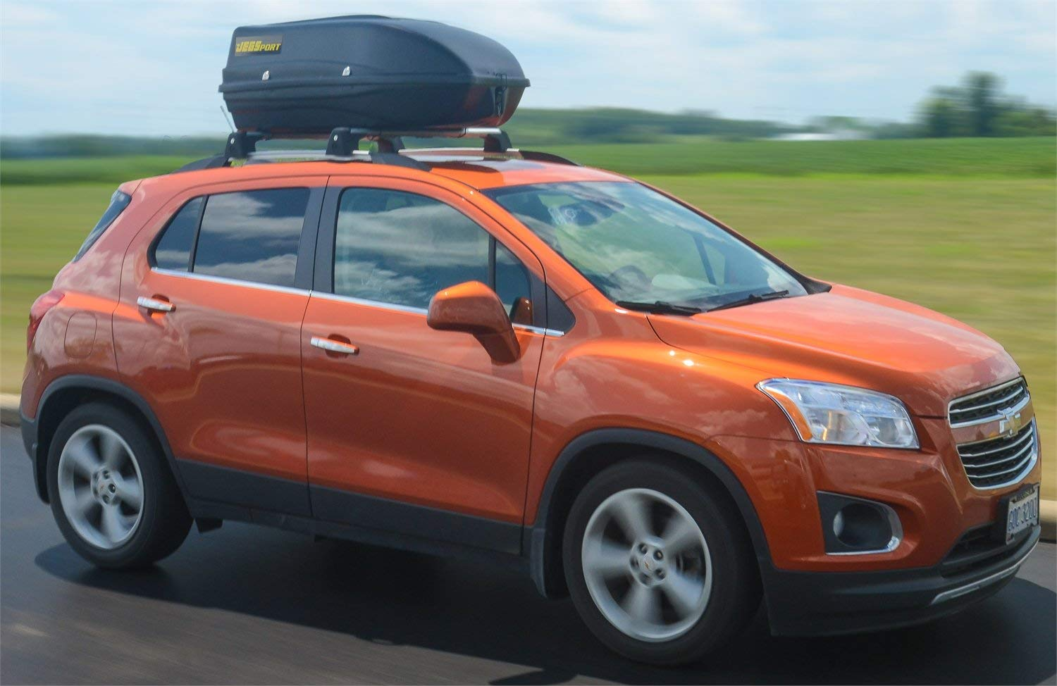 ft JEGS 90097 Rooftop Cargo Carrier Capacity: 9 cu Carrying Capacity 100 lb