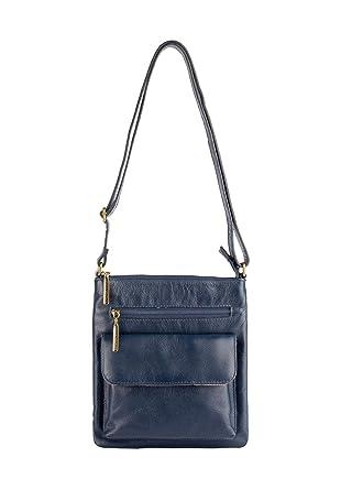 Bolsa Pequena Transversal de couro Alana azul  Amazon.com.br  Amazon ... e2e543a5cb