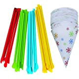 Time for Treats TM Snow Cone Cups and Spoon Straws 25-Pack by VICTORIO VKP1125