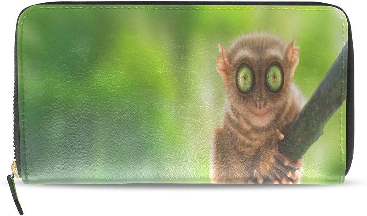Pequeño y agradable Dedo Mono Pasaporte largo Embrague Monederos Cremallera Monedero Bolso Bolso organizador de dinero Bolsa Titular tarjeta de crédito para dama Mujer Chica Hombre Regalo de viaje