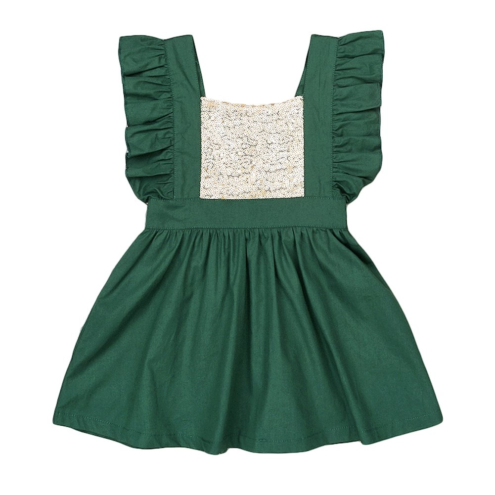 44223aff6 Top14: YOHA Baby Girls Sequins Ruffle Jumper Skirts Suspender Pinafore  Toddler Dress. Wholesale Price: Baby healthy breathable cotton, super soft  feeling to ...