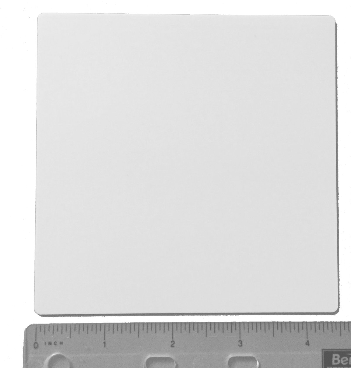 CP3 Brand 1x Alumina Ceramic Plate 4.5' Square 114cm Square 1mm .0394' thick rounded corners by CP3, Inc.