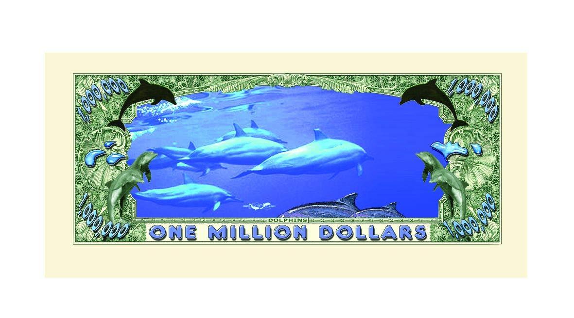 Set of 10 Bills-Dolphin Million Dollar Bill American Art Classics O5-NDA8-WMKE
