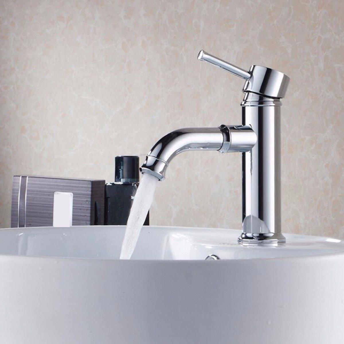 Hlluya Wasserhahn für Waschbecken Küche Das Kupfer kalt Wasserhahn Einloch Waschbecken Waschbecken