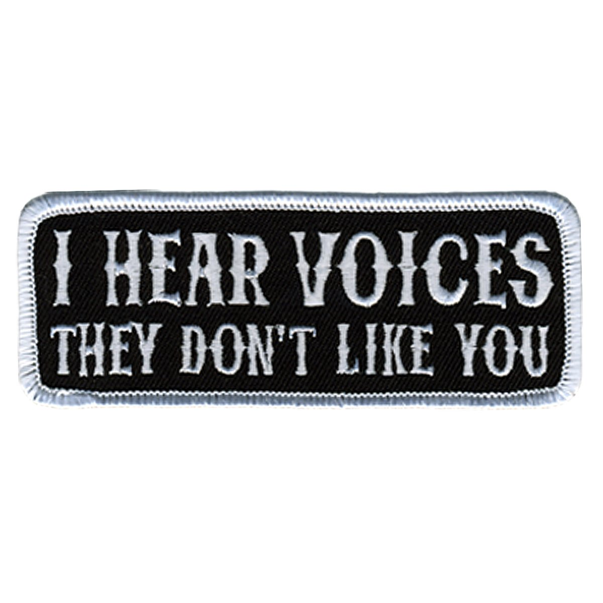4 Width x 2 Height Hot Leathers I Hear Voices Patch