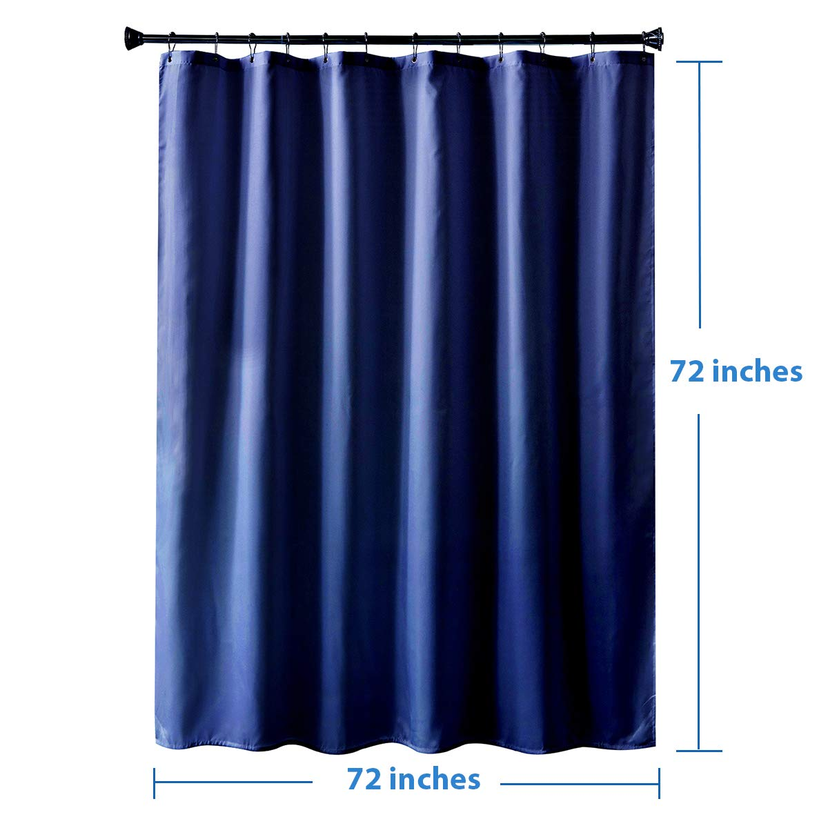 36 x 72 Inches White Polyester Fabric Shower Curtain Liners Bathroom Shower Curtains Water Proof Amazer Fabric Shower Curtain Liner Hotel Quality